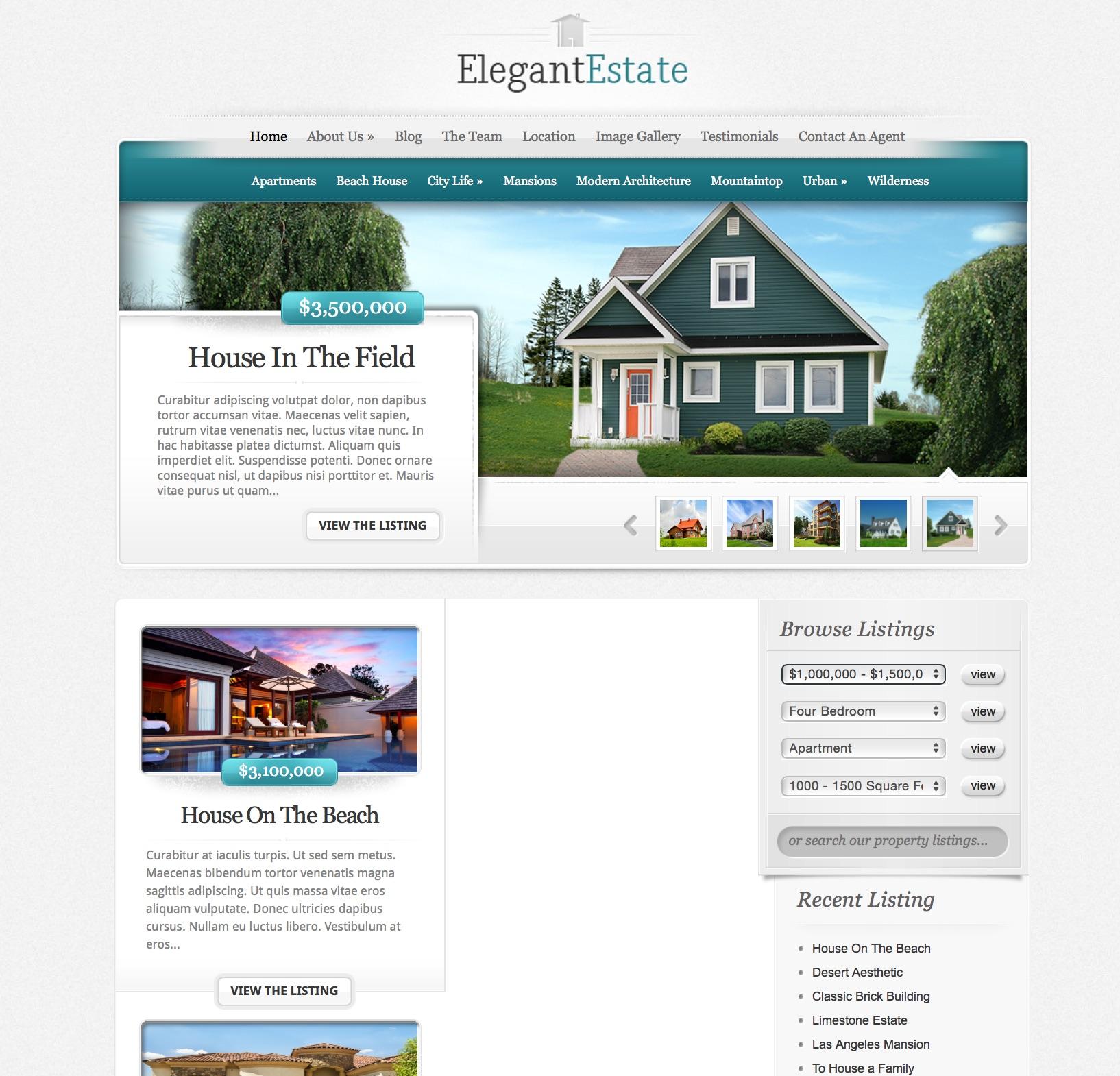 get a beautiful elegant website the last invention pty elegantestate template 6